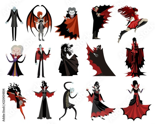 monster vampires collection Canvas