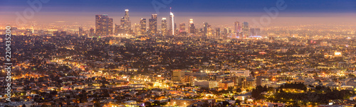 Poster de jardin Los Angeles Los Angeles Downtown sunset