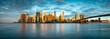 canvas print picture - Manhattan Skyline in New York City, USA