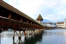 The Kapellbrücke Bridge On Th...