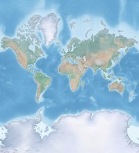 Map Of The World In Mercator P...