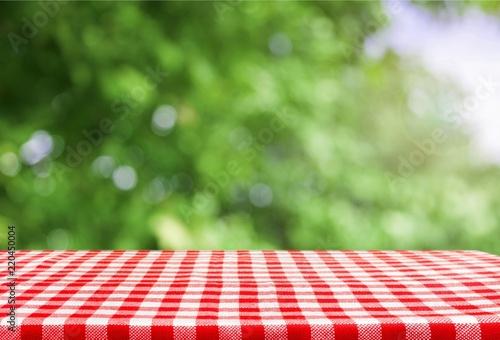 Keuken foto achterwand Picknick Checkered napkin on background