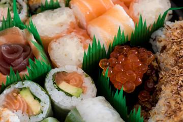 Mix of tasty sushi