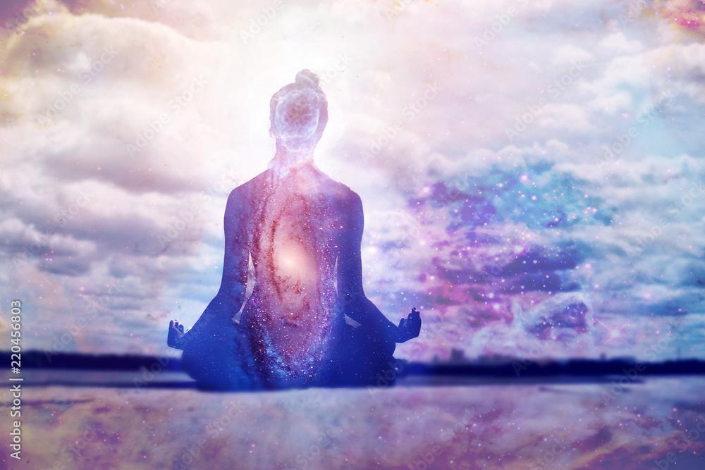 Fototapety, obrazy: Yoga and meditation symbol concept.
