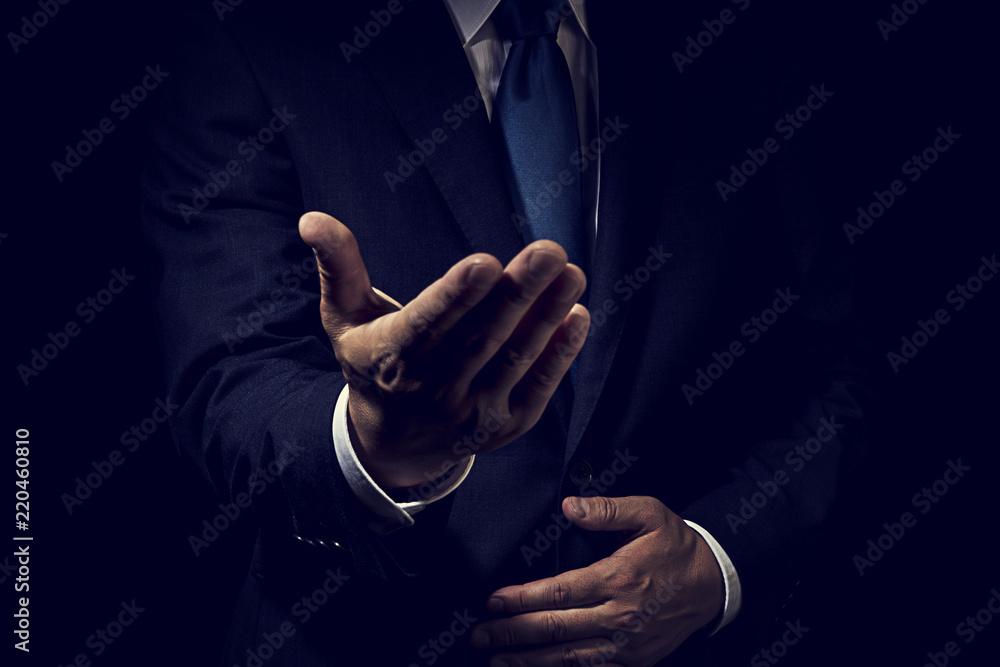 Fototapeta 手を差し出したビジネスマン