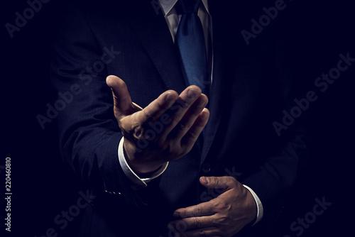 Papel de parede 手を差し出したビジネスマン