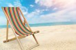 Deckchair isolated on a white background