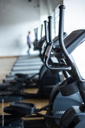 Fotografía  Elliptical cross trainer machine fitness