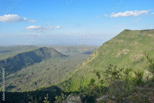 Staande foto Blauwe hemel The volcanic crater on Mount Suswa, Kenya