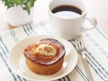 バナナケーキとコーヒー