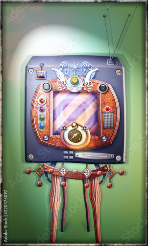 In de dag Imagination Steampunk, strange and vintage television