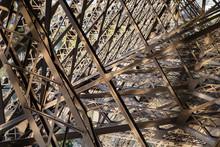 Eiffel Tower Structure Closeup