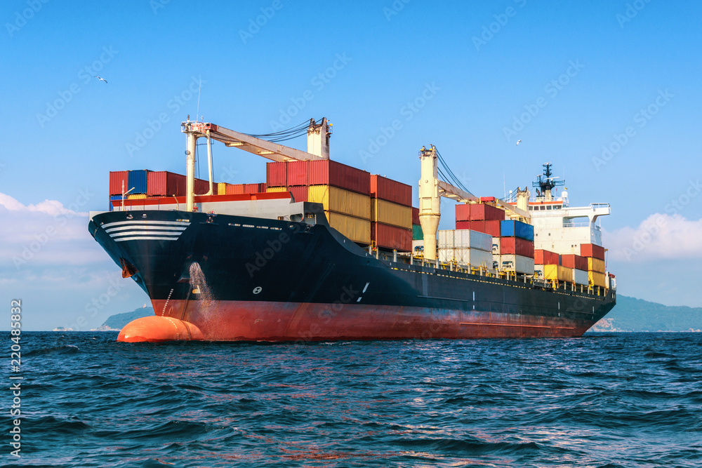 Fototapety, obrazy: Logistics and transportation of International Container Cargo ship