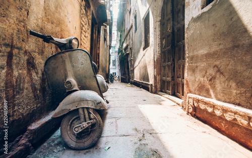 Old scooter at Varanasi backstreet