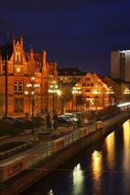 Brda River Bank In Bydgoszcz. ...