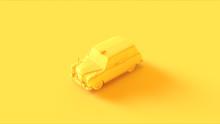 Yellow Black Cab 3d Illustration 3d Rendering