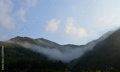 landscape of fog and clouds