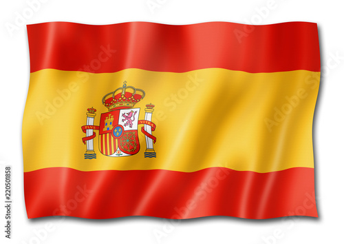 Fototapeta Spanish flag isolated on white obraz