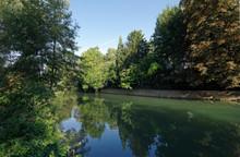 Grand Morin River In Crecy La Chapelle Village