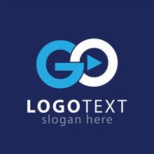 GO Initial Letter Logo Vector