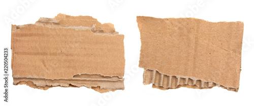 Cuadros en Lienzo Morceaux de carton ondulé déchiré