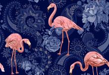 Flamingo On A Colorful Backgro...