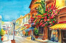 Street Of Famagusta Cyprus Art