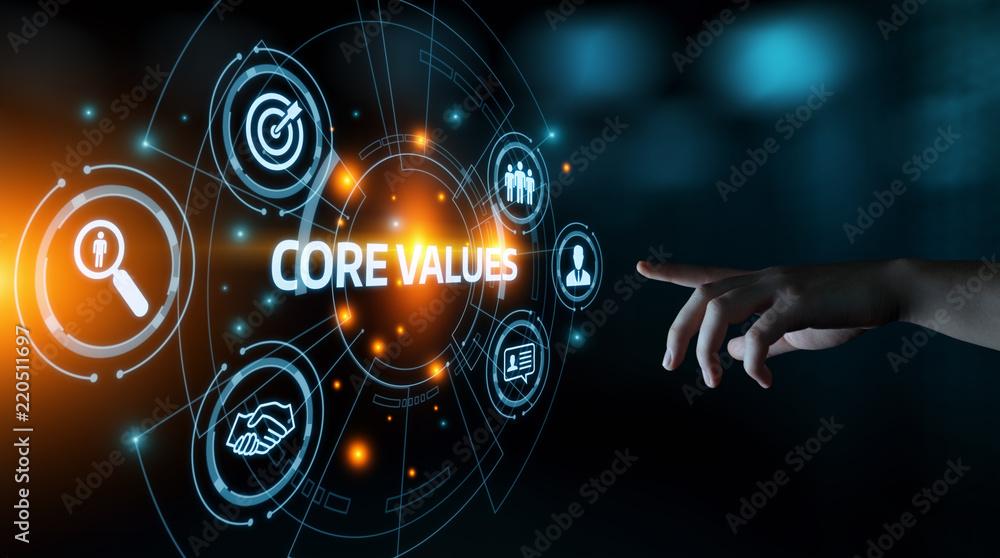 Fototapeta Core Values Responsibility Ethics Goals Company concept