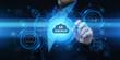 Leinwandbild Motiv Backup Storage Data Internet Technology Business concept