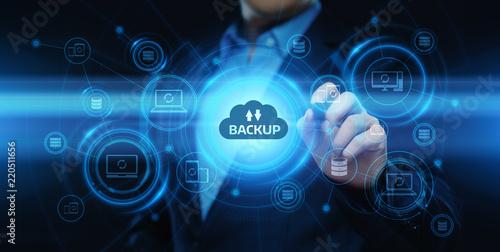 Photo Backup Storage Data Internet Technology Business concept