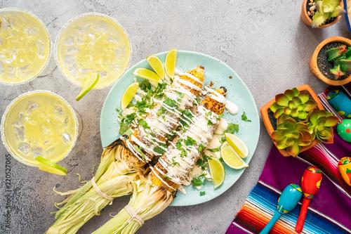 Grilling mexican street corn Tapéta, Fotótapéta