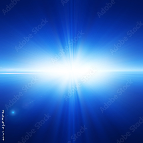 Spoed Foto op Canvas Stadion Abstract background with a glowing blue light