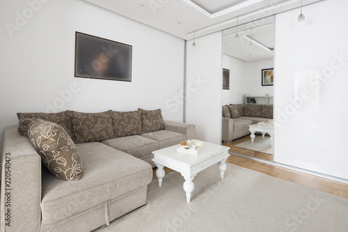 Платно Cousy living room with siting area.interior