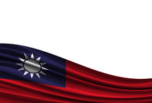 Flag Of Taiwan Isolated On Whi...