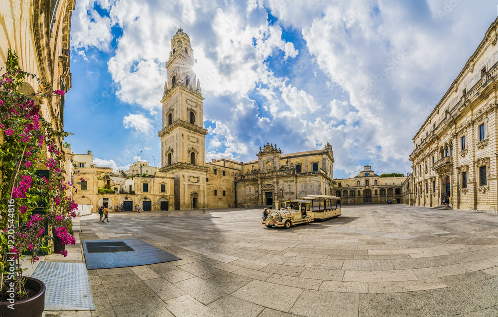 Fototapety, obrazy: Lecce, Italy - Piazza del Duomo square and Virgin Mary Cathedral , Puglia region, southern Italy