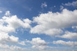 Leinwandbild Motiv White clouds and blue sky