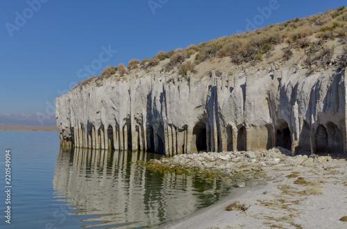 Photo  Stone Columns at the eastern shore of Lake Crowley Mono county, California