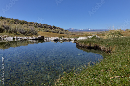 Sierra Nevada mountains view from Layton Springs near Lake Crowley Mono county, Wallpaper Mural