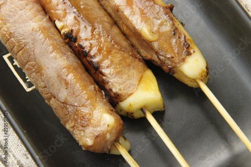 Brochettes yakitori boeuf fromage