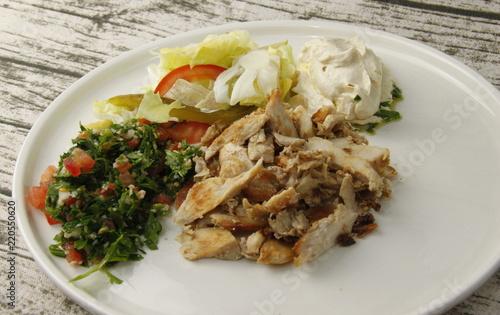 Keuken foto achterwand Klaar gerecht Plat Libanais
