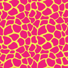 Abstract Colorful Animal Print. Seamless Vector Pattern With Giraffe Spots. Textile Repeating Animal Fur Background.