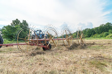 Tedders For Hay In The Meadow