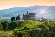 View On The Castle Of Grinzane...