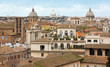 Rome skyline, with its palaces and the beautiful cupolas of its churches