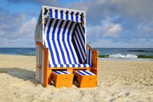 Kosze Plażowe Na Plaży W Kołobrzegu