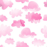 watercolor clouds seamless pattern - 220568494