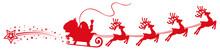 Santa Claus Flyin On Christmas Sleigh – For Stock
