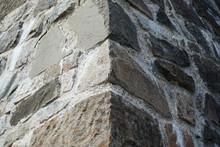 Old Stone Corner Wall.