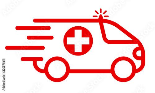 Photo Ambulances icon - stock vector