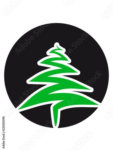 Weihnachtsbaum Clipart.Kreis Rund Logo Weihnachtsbaum Weihnachten Nikolaus Winter Geschenke